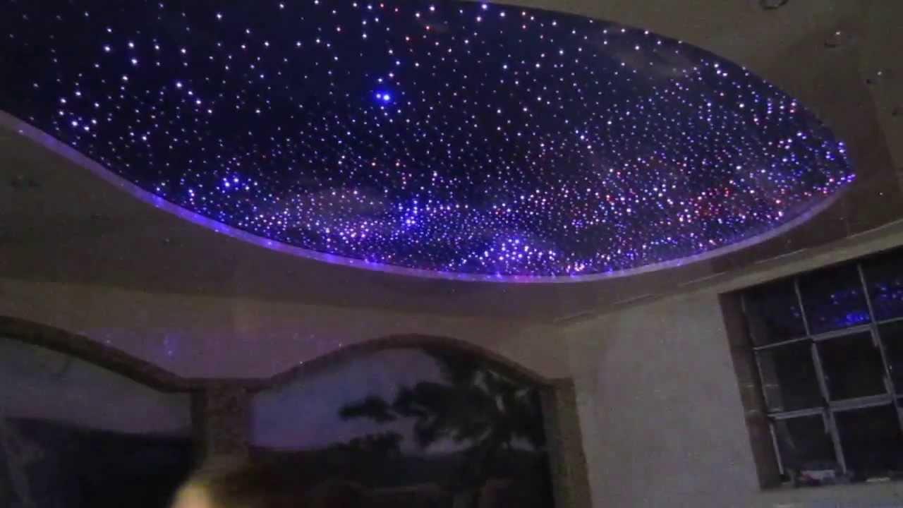 Звездный потолок на натяжных потолках своими руками