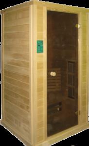 ИК-сауна 1-местная с керамическими излучателями, ширина 1,15м, глубина 1,05м